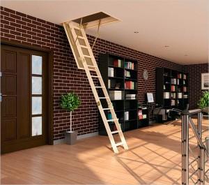 Чердачная лестница с люком: разновидности, критерии выбора
