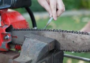 Как заточить цепь бензопилы